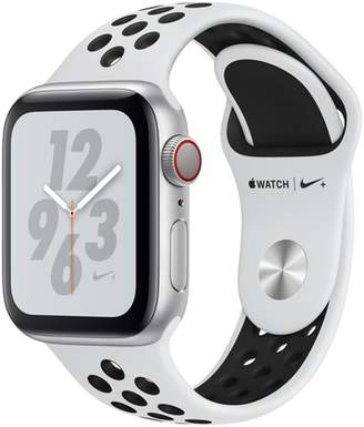 Apple AppleWatch Nike+ Series4 GPS+Cellular, 40mm Silver Aluminum Case with Pure Platinum/Black Nike Sport Band