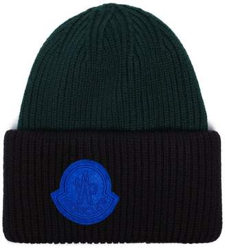 Moncler virgin wool beanie hat
