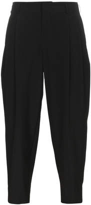 Comme des Garcons Black Wool Cropped Trousers