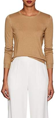 Barneys New York Women's Metallic Silk-Blend Sweater - Camel