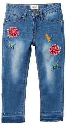 Hudson Embroidered Ankle Cropped Skinny Jeans (Little Girls)