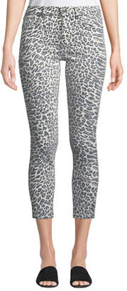 Current/Elliott The Stiletto Leopard-Print Skinny Jeans