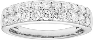 Platinum 1 Carat T.W. IGL Certified Diamond Pave Wedding Band