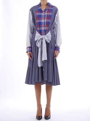 Loewe Check And Stripe Dress