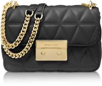 Michael Kors Sloan Small Black Quilted Leather Shoulder Bag