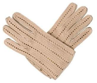 Malo Leather Cutout Gloves w/ Tags