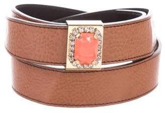 Valentino Embellished Leather Belt