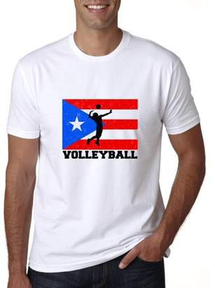 Hollywood Thread Puerto Rico Olympic - Volleyball - Flag Men's T-Shirt
