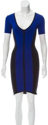 Torn By Ronny Kobo Short Sleeve Knee-Length Dress