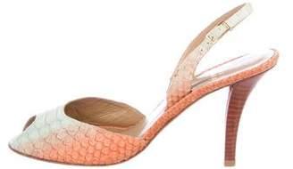 Stuart Weitzman Python Slingback Sandals
