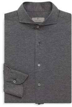 Canali Woven Texture Cotton Shirt