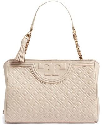 Tory Burch Fleming Leather Shoulder Bag $550 thestylecure.com