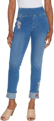 Belle By Kim Gravel Belle by Kim Gravel Flexibelle Pull On Cuffed Ankle Jeans