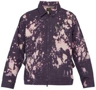 Needles Acid Washed Denim Jacket - Mens - Purple