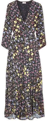 RIXO - Katie Floral-print Crepe Midi Dress - Black