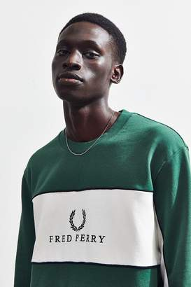 Fred Perry Piped Panel Crew-Neck Sweatshirt