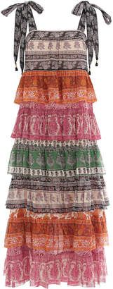 Zimmermann Amari Tiered Tie Dress