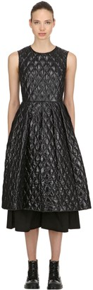 Moncler Genius 6 Noir Quilted Backless Dress