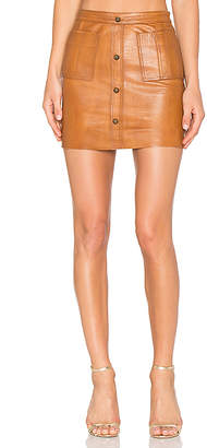 Aje Shrimpton Leather Mini Skirt