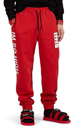 "Palm Angels 8 MONCLER Men's ""Im So High"" Cotton Fleece Jogger Pants"