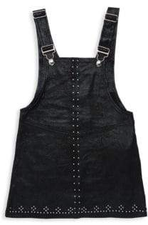 Blank NYC Girl's Embellished Overalls& Tank