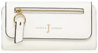 J by Jasper Conran White Zip Front Large Purse