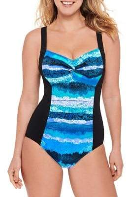 Christina Manala Tie Dye D-Cup One-Piece Swimsuit