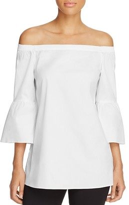 Lafayette 148 New York Rosario Off-the-Shoulder Blouse $348 thestylecure.com