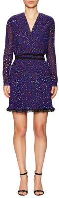 Carven Georgette Printed Short Dress