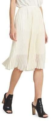 Donna Karan Pleated Midi Skirt