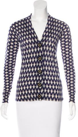 Tory Burch Tory Burch Wool Printed Cardigan