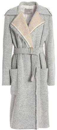 Belted Bouclé Coat