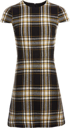Alice + Olivia MALIN PLAID MINI DRESS
