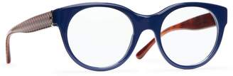 Tory Burch PATTERNED-TEMPLE EYEGLASSES
