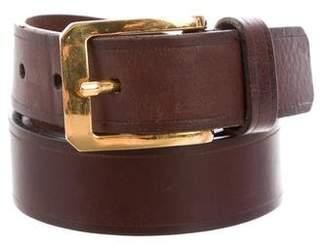 Tom Ford Gold-Tone Buckle Leather Belt