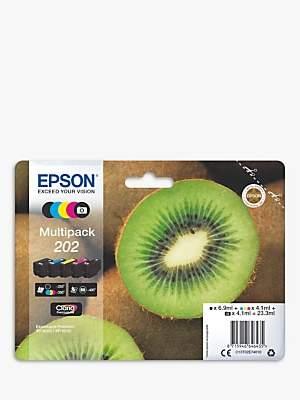 Epson Kiwi T02E7 Inkjet Printer Cartridge Multipack, Pack of 5