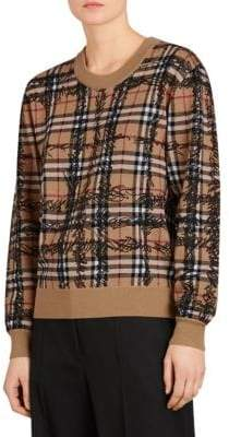 Burberry Kern Wool Crewneck Sweater