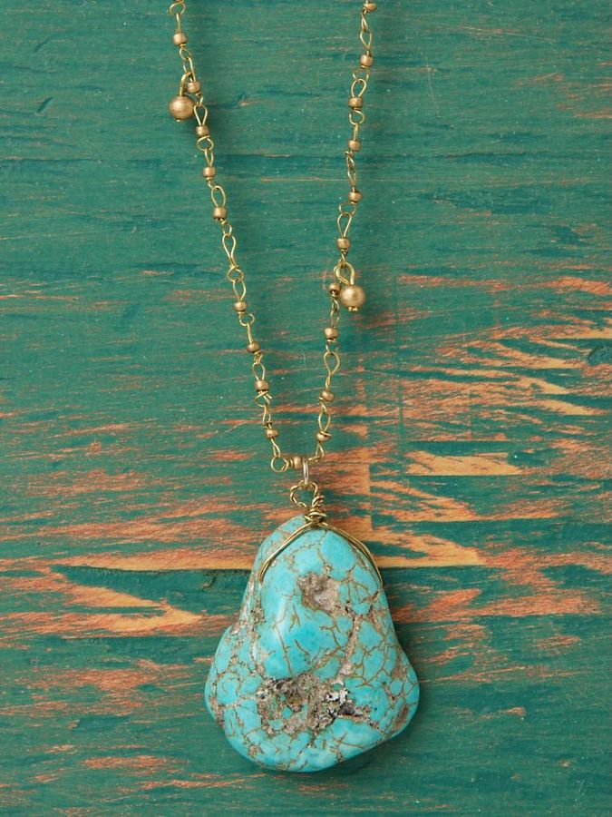 Natural Turquoise Layer Necklace