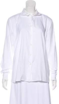 Bottega Veneta Long Sleeve Button-Up Top