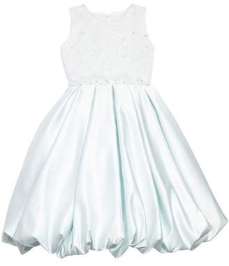 Joan Calabrese FOR MON CHERI Beaded Lace & Satin First Communion Dress (Toddler Girls, Little Girls & Big Girls)