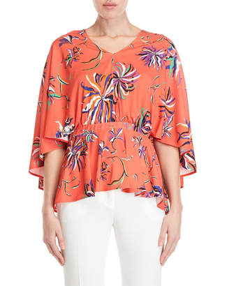 Emilio Pucci Printed Capelet Jersey Top