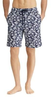 Ralph Lauren Shark-Print Jersey Pajama Shorts