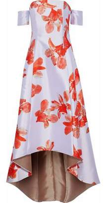Sachin + Babi Off-The-Shoulder Floral-Print Duchesse Satin-Twill Gown