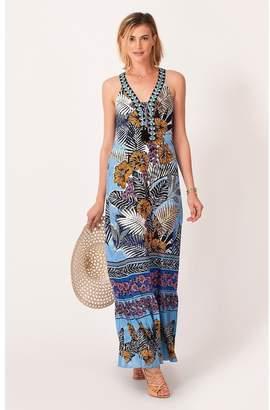 Hale Bob Zantina Palm Maxi Dress