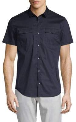 Calvin Klein Short-Sleeve Stretch Button-Down Shirt