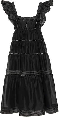 Ulla Johnson Rosalie Tiered Cotton-Silk Blend Dress