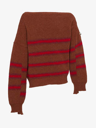 Raf Simons Wool striped sweater with buckle detail