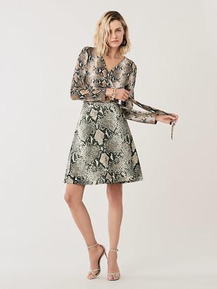 Diane von Furstenberg Amelia Flared Silk-Jersey Wrap Dress