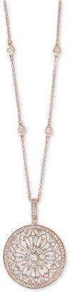 "Effy Diamond Filigree Pendant 18"" Necklace (1 ct. t.w.) in 14k Gold, White Gold or Rose Gold"