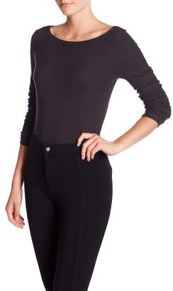 Michael Stars Cutout Long Sleeve Top